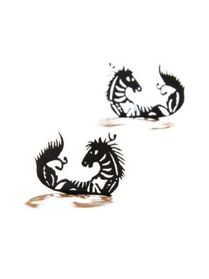 Paperself Paper Eyelash - Small Horses (2 pair)