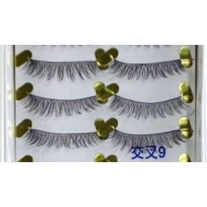Jaymay Handmade Fake Eyelashes #Cross 9 (10 pairs)