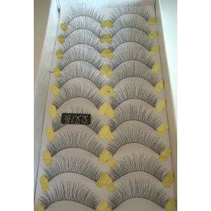 Jaymay Handmade Fake Eyelashes #Cross 7 Long (10 pairs)