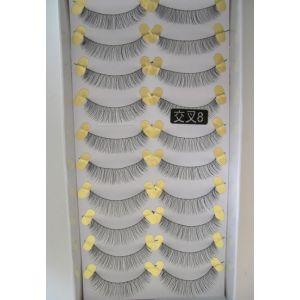 Jaymay Handmade Fake Eyelashes #Cross 8 (10 pairs)