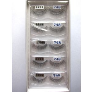 Jaymay Handmade Invisible Band Fake Eyelashes #748 (5 pairs)