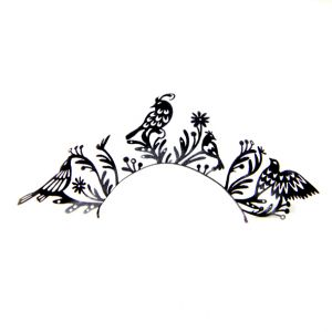 Paperself Paper Eyelash - Birds (1 pair)